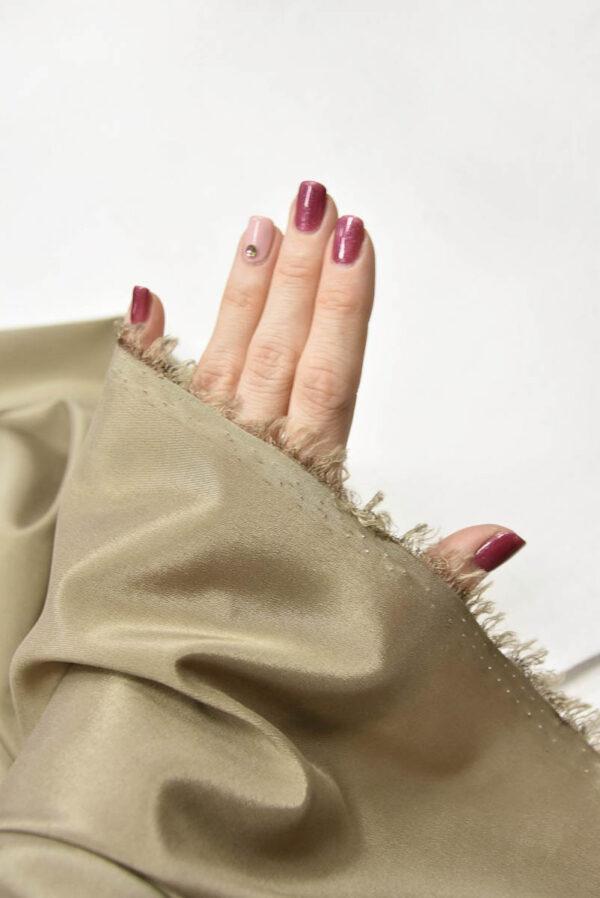 Подкладочная ткань стрейч оттенок теплый беж (5738) - Фото 8