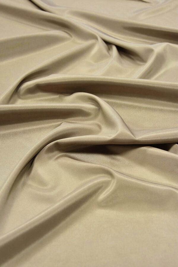 Подкладочная ткань стрейч оттенок теплый беж (5738) - Фото 6