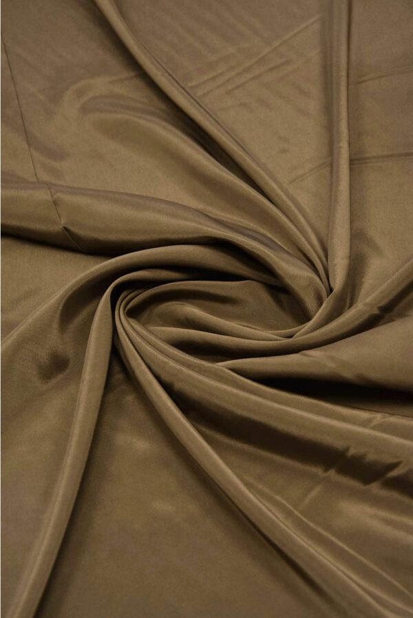 Подкладочная ткань с эластаном сепия (5739) - Фото 7