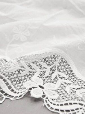 Хлопок белый с вышивкой и кружевной каймой (5810) - Фото 19