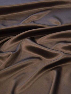 Шелк стрейч атласный шоколадный (5816) - Фото 18
