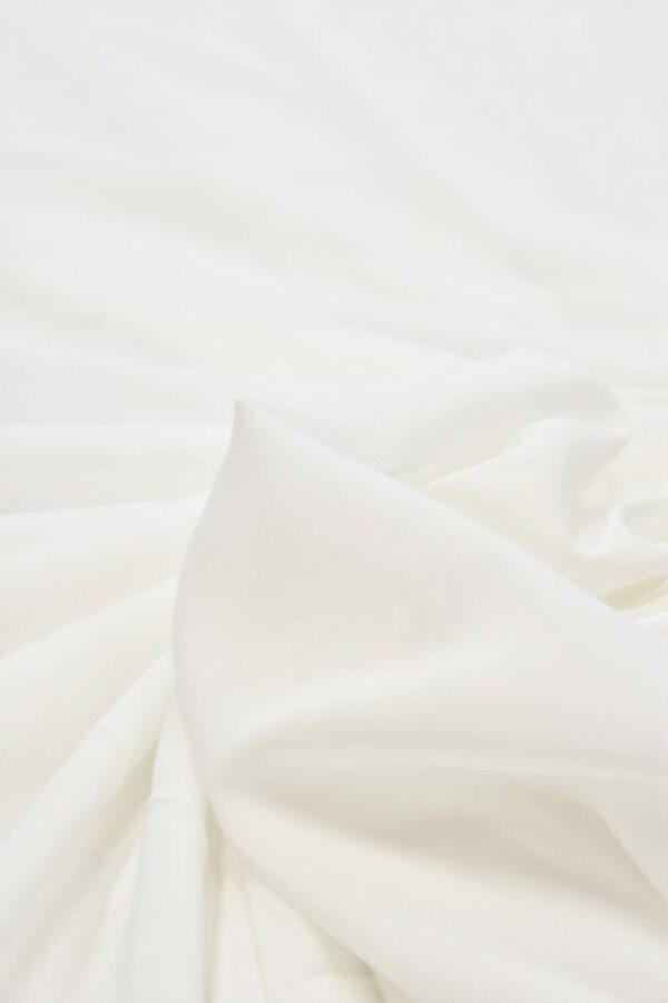 Креп шифон стрейч молочно-белый (5893) - Фото 8