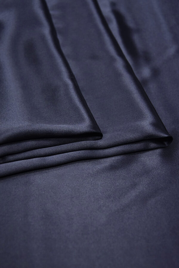 Шелк атласный темно-синий (5898) - Фото 8