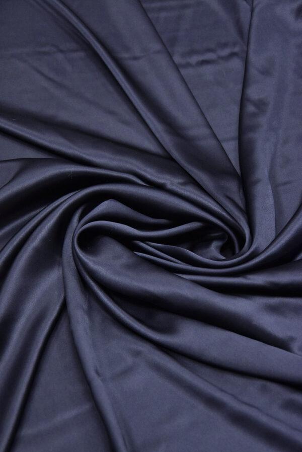 Шелк атласный темно-синий (5898) - Фото 7