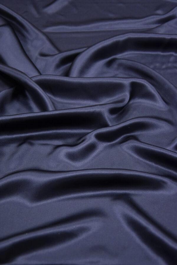 Шелк атласный темно-синий (5898) - Фото 6