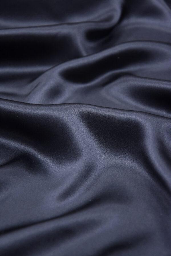 Шелк атласный темно-синий (5898) - Фото 9