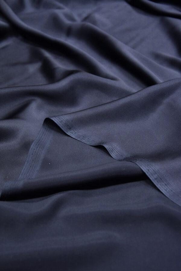 Шелк атласный темно-синий (5898) - Фото 10