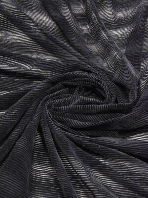 Бархат Деворе черный в полоску (5936) - Фото 16