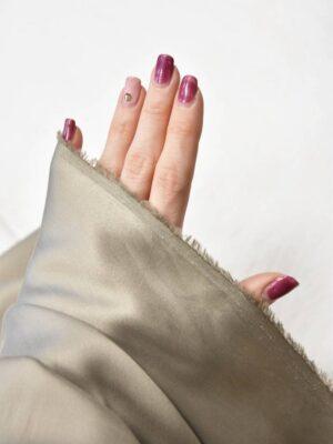 Шелк стрейч светлый серо-бежевый оттенок (5945) - Фото 15