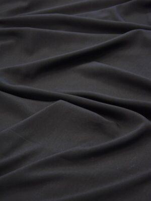Креп плательный черный тонкий матовый (5991) - Фото 14