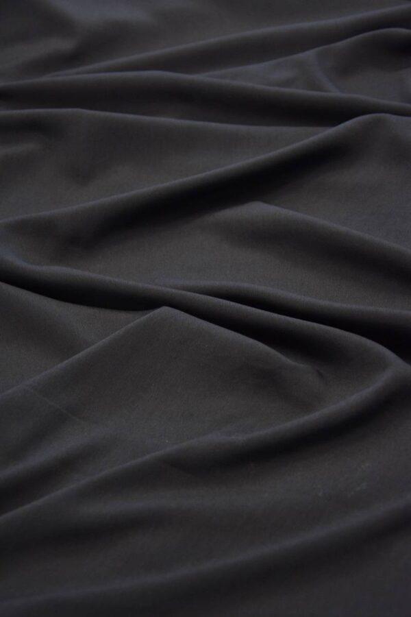Креп плательный черный тонкий матовый (5991) - Фото 6