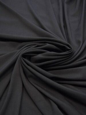 Креп плательный черный тонкий матовый (5991) - Фото 15