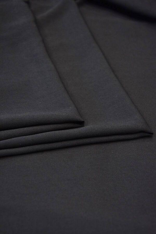 Креп плательный черный тонкий матовый (5991) - Фото 8
