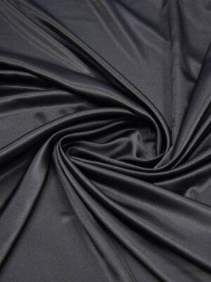 Атлас черный с глянцевым блеском (5997) - Фото 17