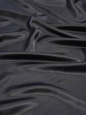Атлас черный с глянцевым блеском (5997) - Фото 16