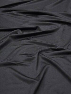 Подклад трикотажный черный матовый (6007) - Фото 8