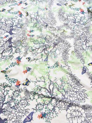 Трикотаж с деревьями и бабочками на белом (6018) - Фото 11