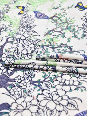 Трикотаж с деревьями и бабочками на белом (6018) - Фото 12