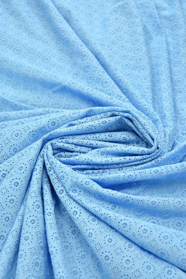 Шитье голубого оттенка с мелким узором (6245) - Фото 7