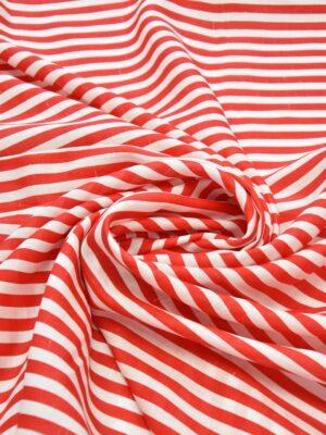 Лен белый в красную полоску (6253) - Фото 13
