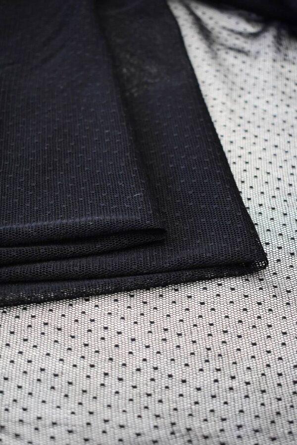 Сетка черная в мелкий горошек (6435) - Фото 8
