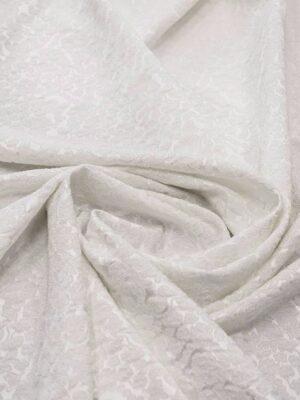 Жаккард стрейч молочный в цветочек (6514) - Фото 13