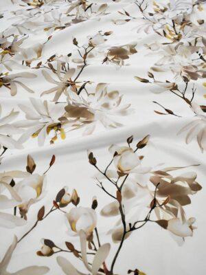 Атлас белый с цветами миндаля (6555) - Фото 12