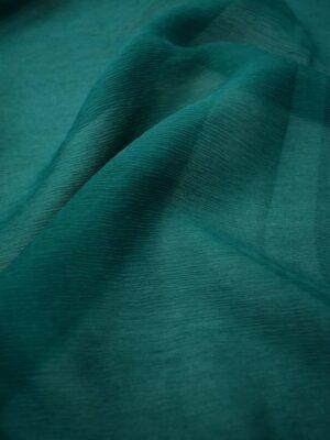 Шифон шелк креш темно-зеленый оттенок (6730) - Фото 16