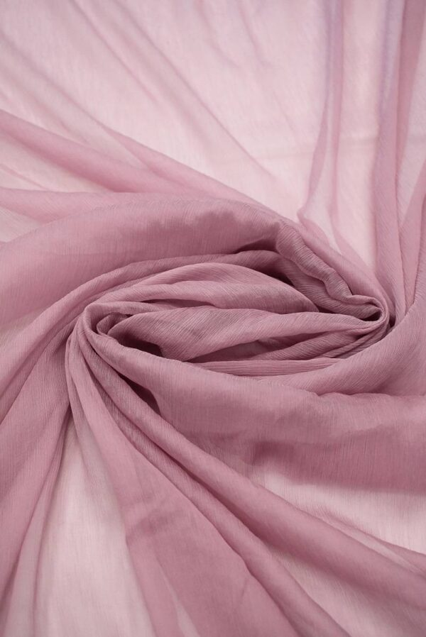 Шифон шелк креш оттенок античная роза (6731) - Фото 9