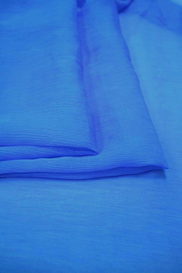 Шифон шелк креш ярко-голубой оттенок (6732) - Фото 8