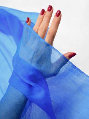 Шифон шелк креш ярко-голубой оттенок (6732) - Фото 11
