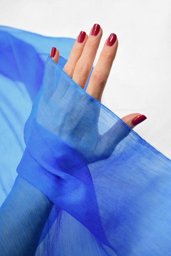 Шифон шелк креш ярко-голубой оттенок (6732) - Фото 7