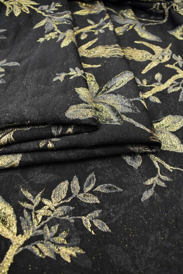 Гобелен шерсть с золотыми веточками и птицами (6752) - Фото 7