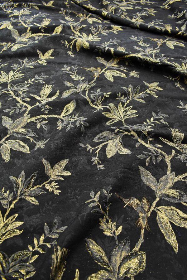 Гобелен шерсть с золотыми веточками и птицами (6752) - Фото 6