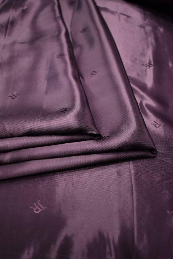 Подкладочная вискоза фиолет с бордовым оттенком (6755) - Фото 7