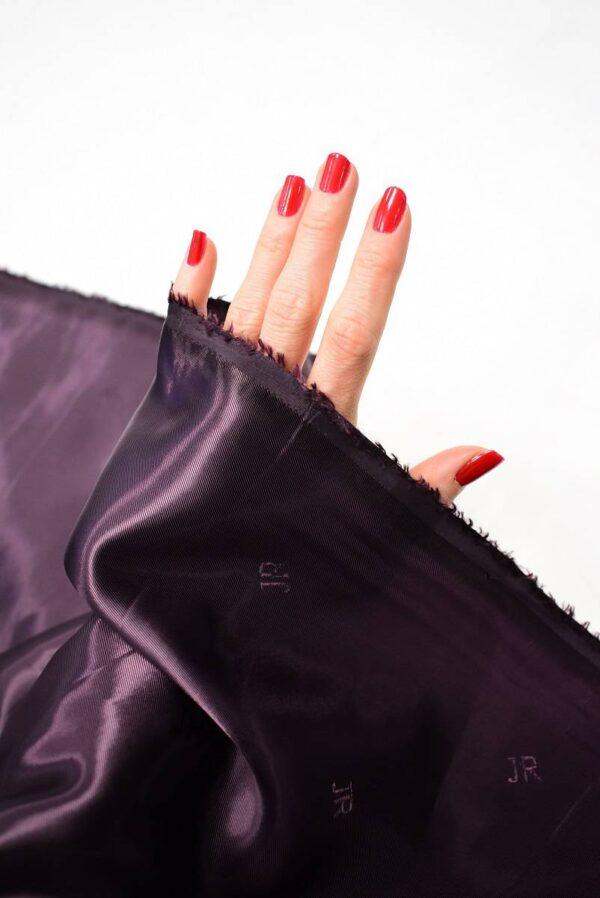 Подкладочная вискоза фиолет с бордовым оттенком (6755) - Фото 10
