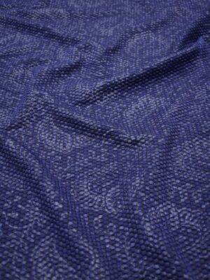 Джерси стеганый кругами синий с узором пейсли (7034) - Фото 12