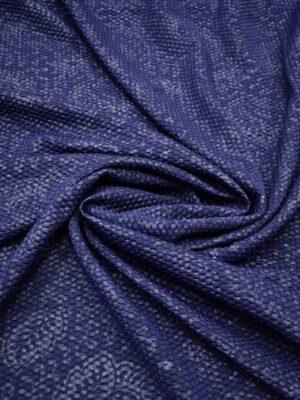 Джерси стеганый кругами синий с узором пейсли (7034) - Фото 13