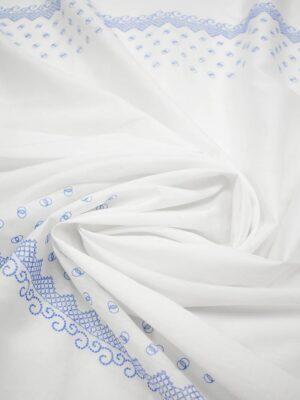 Шитье белого цвета с голубой каймой из колечек (7179) - Фото 19