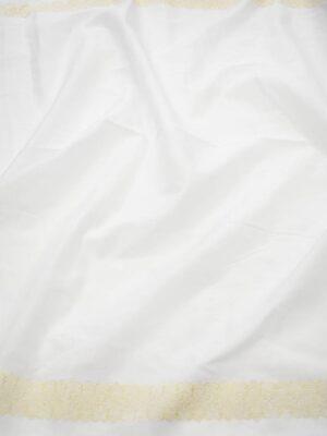 Шитье хлопок белый с бежевой каймой (7181) - Фото 11