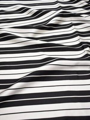 Тафта в черно-белую полоску (7329) - Фото 14