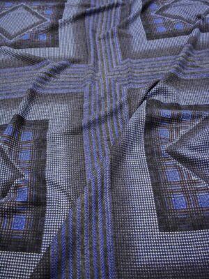Джерси купон с синими и серым квадратами (7336) - Фото 14