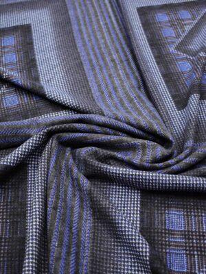Джерси купон с синими и серым квадратами (7336) - Фото 15