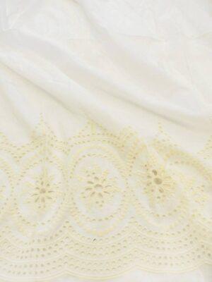 Батист с вышивкой на молочном фоне (7349) - Фото 16