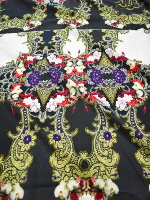 Органза шелковая купон с цветами (7357) - Фото 11