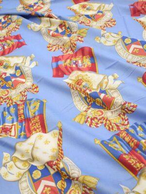 Хлопок голубой с гербами и флагами (7384) - Фото 17