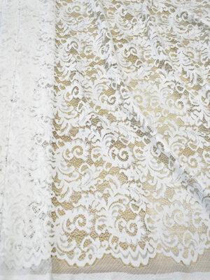 Кружево сутажное молочно-белое с завитками (7432) - Фото 11