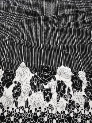 Плиссе черно-белое с цветочной каймой (7490) - Фото 11