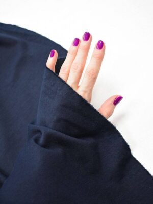 Джерси стрейч темно-синий оттенок (7500) - Фото 17