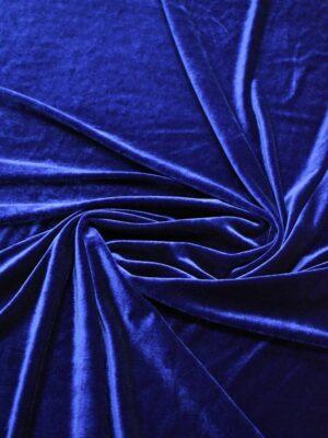 Бархат стрейч синий блестящий (7525) - Фото 16